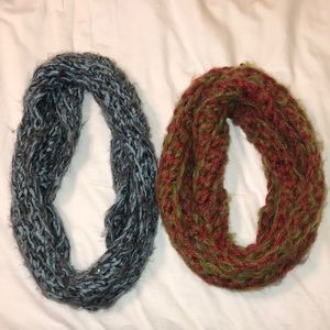 Hand crocheted infinity scarves!